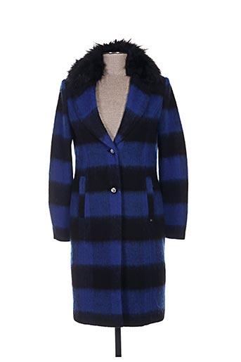 gaudi manteaux femme de couleur bleu