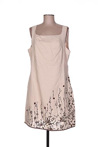 a belle by j.e creation robes femme de couleur beige