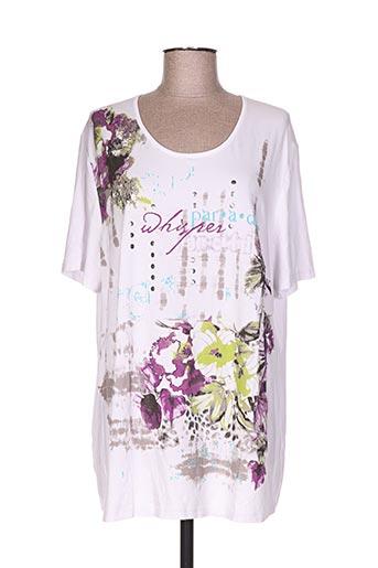 my way t-shirts femme de couleur blanc