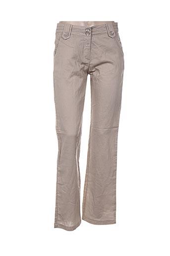 a.c.b by j.e creation pantalons femme de couleur beige