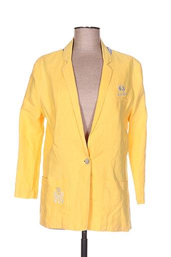 Veste chic / Blazer jaune LA MARTINA pour femme