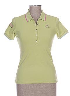 Polo manches courtes vert LA MARTINA pour femme