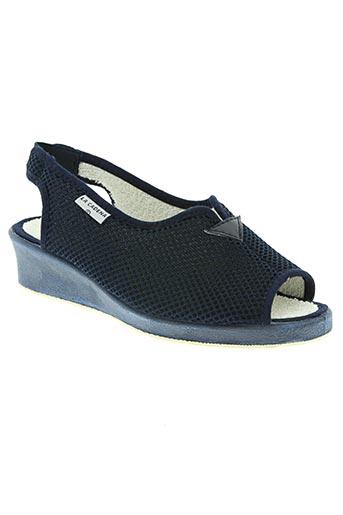 la cadena chaussures femme de couleur bleu