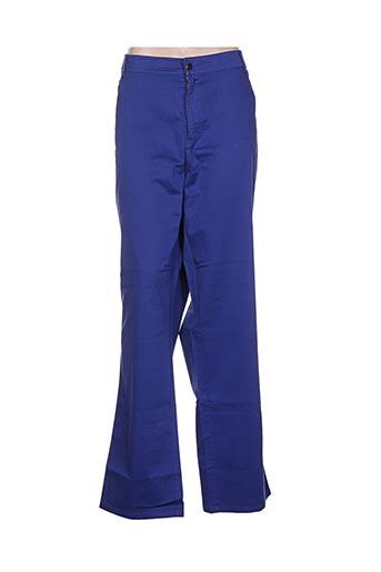 Pantalon casual bleu ALAIN WEIZ pour femme