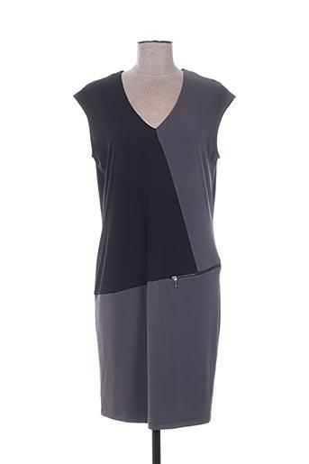 Robe mi-longue gris ELORA pour femme