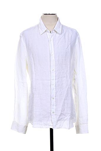 120% lino chemises homme de couleur beige