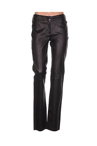 karen ritzi pantalons femme de couleur noir