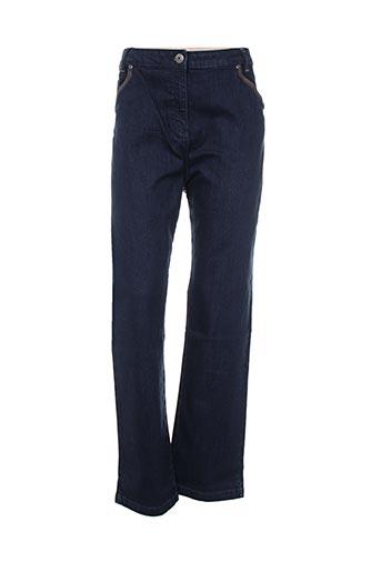 Jeans coupe slim bleu THALASSA pour femme