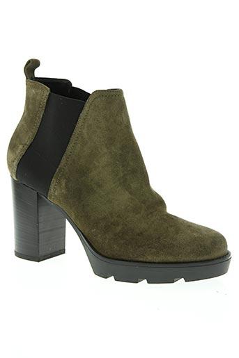 janet sport chaussures femme de couleur vert
