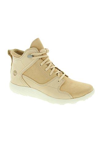 timberland chaussures femme de couleur beige