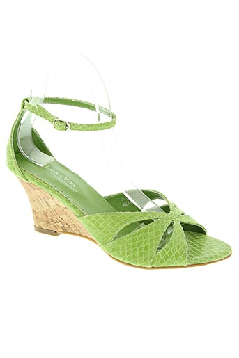 laura vita chaussures femme de couleur vert