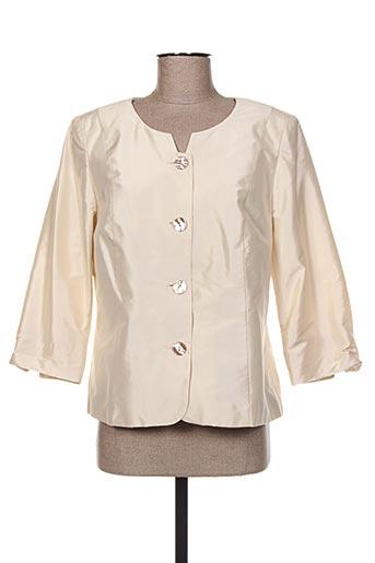 Veste chic / Blazer beige WEINBERG pour femme