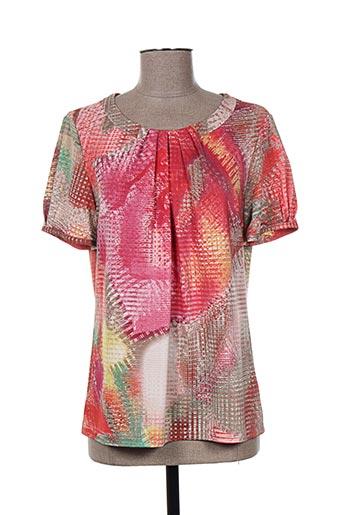 T-shirt manches courtes orange WEINBERG pour femme