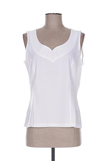 pauporté t-shirts femme de couleur blanc