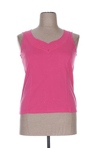 pauporté t-shirts femme de couleur rose