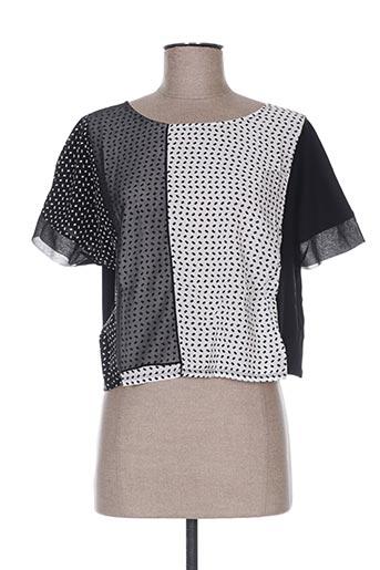 T-shirt manches courtes noir TERRE DE FÉES pour femme