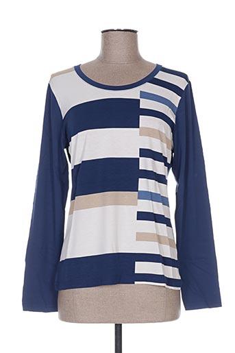 T-shirt manches longues bleu PAUPORTÉ pour femme