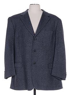 Veste simili cuir bleu HAROLD pour homme