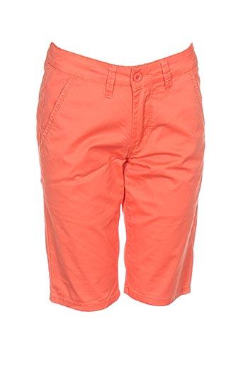 leeyo jeans shorts / bermudas homme de couleur orange