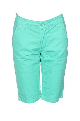 leeyo jeans shorts / bermudas homme de couleur vert