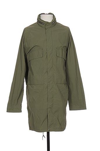 la panoplie manteaux homme de couleur vert