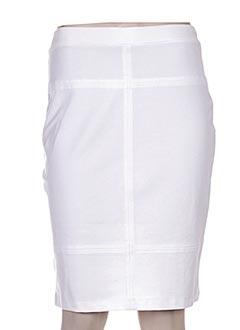 Jupe mi-longue blanc BUGARRI pour femme