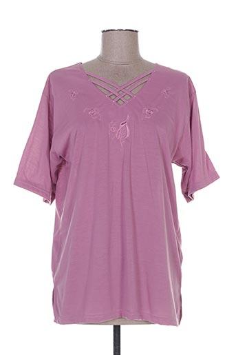 T-shirt manches courtes violet ANNE FASHION pour femme