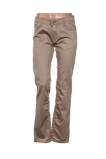 bb.s jeans pantalons femme de couleur beige