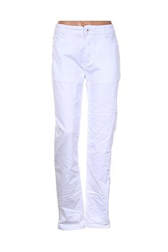 Pantalon casual blanc BY SASHA pour femme