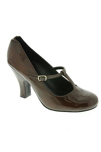 naf naf chaussures femme de couleur marron