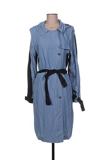 cop copine manteaux femme de couleur bleu