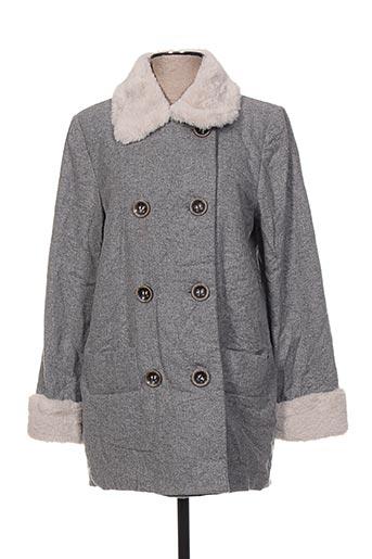 cop copine manteaux femme de couleur gris