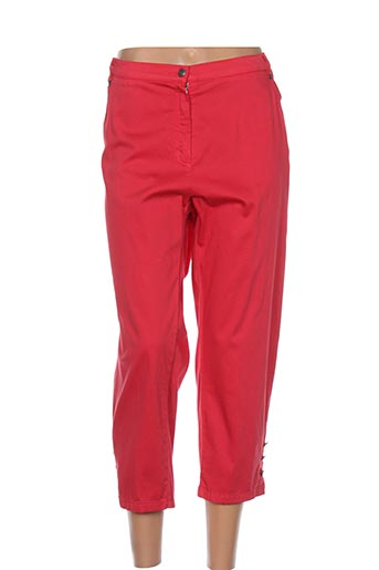 guy dubouis pantacourts femme de couleur rouge