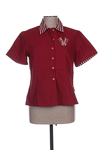 les marins de jac jac chemises femme de couleur rouge