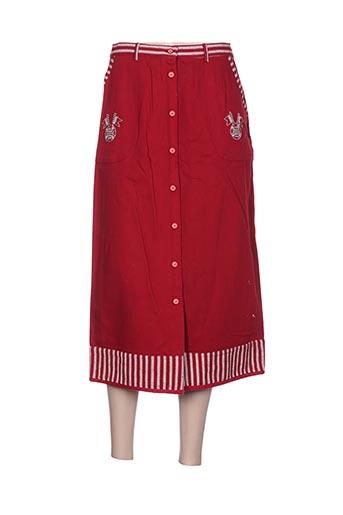 les marins de jac jac jupes femme de couleur rouge