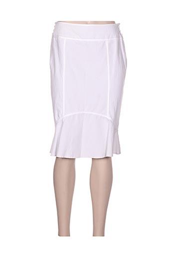 Jupe mi-longue blanc CLAUDIA GIL pour femme