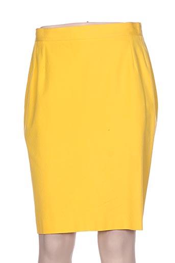 Jupe mi-longue jaune BREAL pour femme