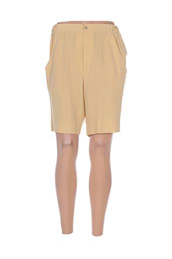 philippe adec shorts / bermudas femme de couleur jaune