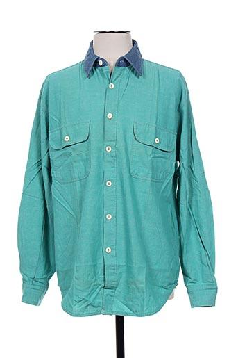 cimarron chemises homme de couleur bleu