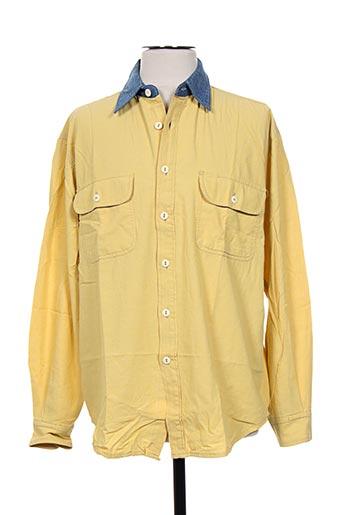 cimarron chemises homme de couleur jaune