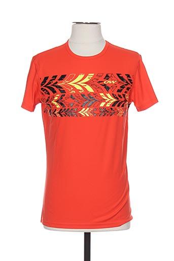 one way t-shirts homme de couleur rouge
