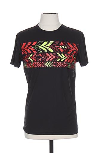 one way t-shirts homme de couleur noir