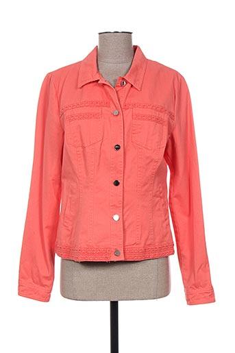 escandelle vestes femme de couleur orange