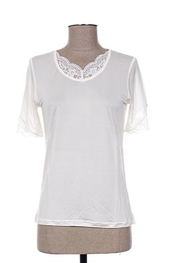 T-shirt manches courtes beige INDIGO pour femme