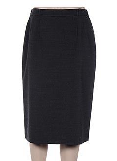 Jupe mi-longue gris BRIGITTE SAGET pour femme
