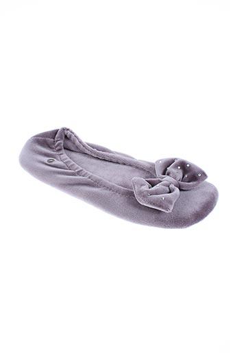 isotoner chaussures femme de couleur violet