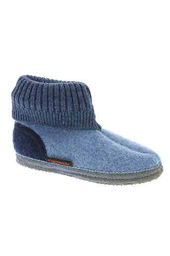 giesswein chaussures enfant de couleur bleu