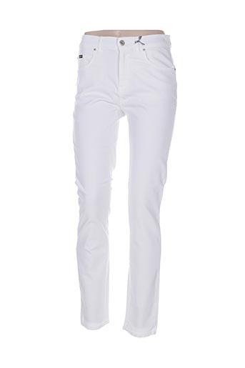 Jeans coupe slim blanc GAFAIR pour femme