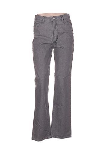 Pantalon casual gris GAFAIR pour femme