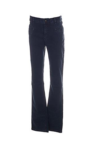 Jeans coupe slim bleu ARMAND THIERRY pour femme